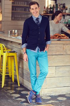 Liker a guy that is not afraid of color.