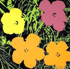 Andy Warhol - Blumen Grün/Hellgrün
