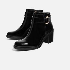 Image 1 of HIGH HEEL ANKLE BOOTS WITH METALLIC DETAIL from Zara