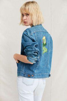 Vintage Wrangler Embroidered Dragon Denim Jacket