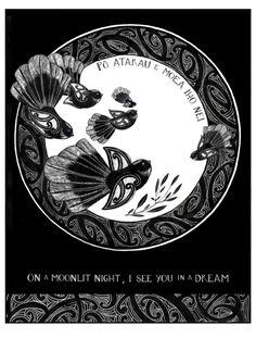 """Po Atarau"" New Zealand Art Print, limited edition of Abstract Sculpture, Sculpture Art, Metal Sculptures, Bronze Sculpture, Waitangi Day, Maori Patterns, Maori Designs, New Zealand Art, Nz Art"