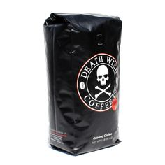 Death Wish Ground Coffee, The World's Strongest Coffee, Fair Trade and USDA Certified Organic, 16 Ounce ** New and awesome product awaits you, Read it now  : Groceries