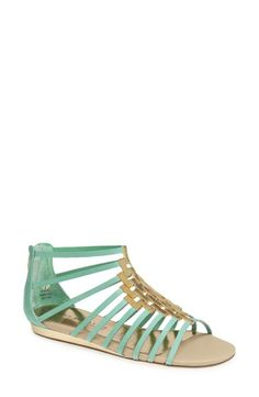 Love these mint caged sandals.