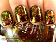 Kleancolor 'Chunky Holo Black' (over black)