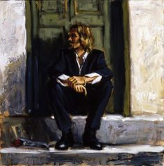 Self portrait Fabian Perez Waiting for the romance to come ... Love it
