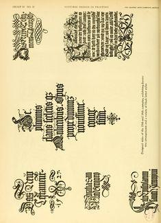 15-16th Century Designed Titles