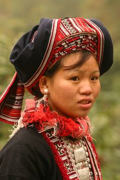 Red Dao woman, Thanh San village, Vietnam
