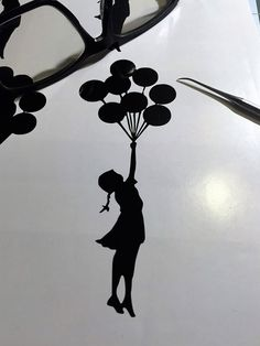 BANKSY Balloon Girl Vinyl Decal 3x5 Interior, Exterior Graffiti Art