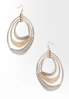 bebe Multi Hoop Mixed Metal Earring #bebewishlist