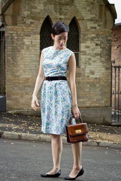 NoraFinds   Vintage Fashion Blogger Sydney   1960s Summer Wiggle Dress