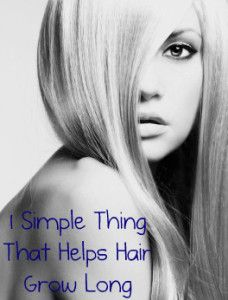 1 Simple thing to grow long hair