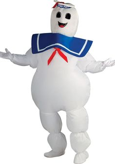 This is the Ghostbusters - Inflatable Stay Puft Marshmallow Man Adult Costume at a cheap price. This costume which is 'Ghostbusters - Inflatable Stay Puft. Costume Ghostbusters, Ghostbusters Fancy Dress, Ghostbusters Characters, Ghostbusters Stay Puft, Ghostbusters Theme, Original Ghostbusters, Marshmallow Man Ghostbusters, Marshmallow Man Costume, Marshmallow Halloween