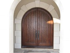 simple decorate double front doors design ideas with wooden materials and white wall painted fascinating double