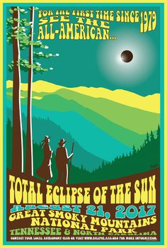 Great Smoky Mountains National Park eclipse poster