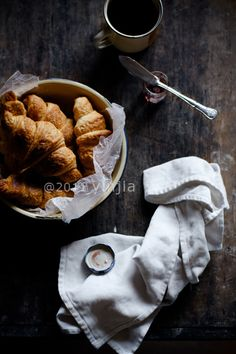 Croissants. Favorite snack food with chips. So good.