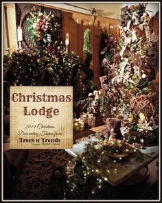 """""""Christmas Lodge"""" - A Manly Christmas Decorating Theme for 2014 Cute Christmas Ideas, Christmas Trends, Christmas Tree Themes, Green Christmas, Xmas Tree, Christmas Stuff, Christmas Holiday, Inexpensive Home Decor, Unique Home Decor"""
