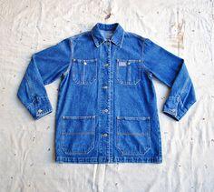 vintage c. 1980s Ralph Lauren denim chore coat by MouseTrapVintage