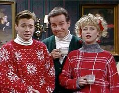 SNL - Mike Myres, Phil Hartman, Victoria Jackson - 1989