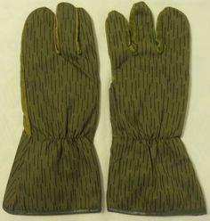 German NVA Army Work Gloves - Sniper  Gloves - Used