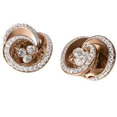 De Grisogono boucles d'oreilles Chiocciolina en or rose et diamants