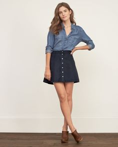 Suede Skirt A Line