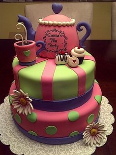cute tea party cake