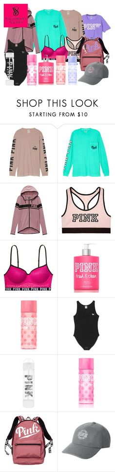 """""""Victoria's Secret PINK"""" by catie-kridler on Polyvore featuring Victoria's Secret, Victoria's Secret PINK and Pink"""