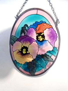 AMIA-STAINED-GLASS-SUNCATCHER-3-5-x4-5-OVAL-Pansies
