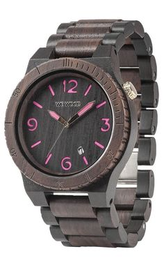 WeWood Unisex Limited ALPHA CHOCO-BLACK PINK Sustainable Wood Wooden Watch #WeWood