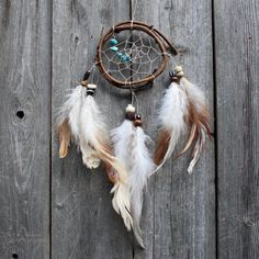 Small Dream Catcher  Turquoise  Boho by VagaBoundPeople on Etsy