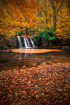Colors of autumn - Suuctu Waterfall, Bursa Fall Images, Fall Pictures, Fall Photos, Nature Pictures, Beautiful Waterfalls, Beautiful Landscapes, Beautiful World, Beautiful Places, Autumn Scenes