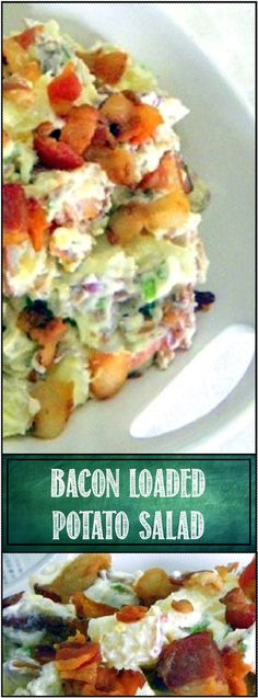 52 Ways to Cook: Loaded Potato Salad ala Everyday Mom's Meals A Food, Good Food, Yummy Food, Loaded Potato Salad, My Favorite Food, Favorite Recipes, Coleslaw Salad, Food Obsession, Side Dish Recipes