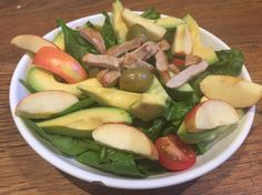 Day 9: lunch  pork and apple salad