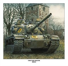tank signed and numbered and customizable print by Jody Harmon Military Armor, Military Guns, Military Vehicles, Bizarre Pictures, Old Pictures, Patton Tank, T 62, M48, Us Armor