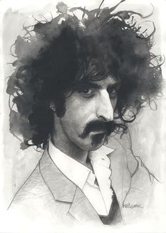 Frank Zappa by Sebastian Kruger.