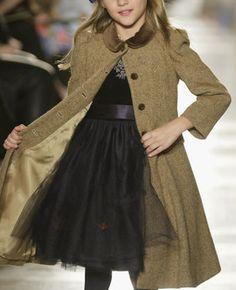Ralph Lauren tweed overcoat (detail) ~ Kids ~  Fall ~ 2014