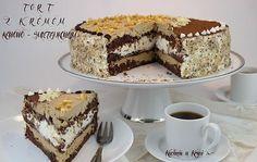 Jubileuszowy tort z kremem kawowo-śmietankowym