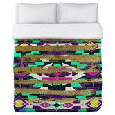 Found it at Wayfair - Oliver Gal Navajo Neon Duvet Cover