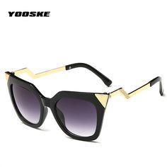 YOOSKE Women Cat Eye Sunglasses Eyewear Vintage Fashion Summer Sunglasses Brand Design female sun Glasses  #Affiliate