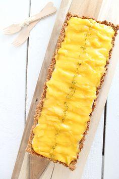 Mangotarte, Mango-Tarte, Müslikuchen, Müslitarte, zuckerfreier Kuchen, zuckerfrei, gesund