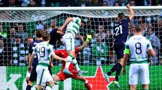 Shane Duffy nodded home just ahead of Kasper Schmeichel after a free-kick was diverted into his path by Nicolai Jorgensen Leigh Griffiths, Kasper Schmeichel, Free Kick, Republic Of Ireland, Uefa Champions League, Denmark, Celtic, Kicks, League News