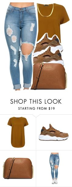 """2/15/16"" by lookatimani ❤ liked on Polyvore featuring NIKE and MICHAEL Michael Kors"