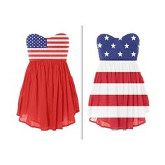 American Flag Dresses--fourth of july perfection
