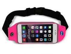 Waist Belt Bag Fits iPhone 6 6s,Samsung galaxy S6 / S6 Edge, Nancy's Shop Expandable Fitness Running Protective pouch and Weather Resistant Sport Exercise Gym waist pack case