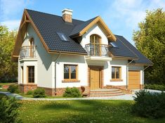 Projekt domu FA ATREUSZ MAŁY - DOM GC5-89 - gotowy projekt domu My House Plans, House Floor Plans, Home Focus, Micro House, Cabins And Cottages, Home Fashion, Modern House Design, Old Houses, Future House