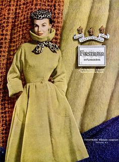 Lillian Marcuson in Forstmann ad, 1952