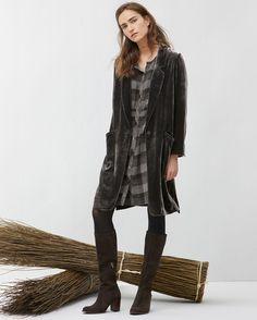 Image of Silk velvet coat