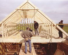 ❧ roof gable trusses room