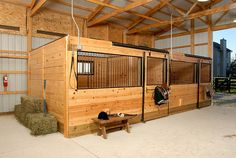 Horse barn with stalls, wash, and tack room | Romney, Indiana | FBi Buildings