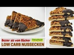 Low Carb Nussecken schmecken nicht nur besser als aus der Bäckerei, sondern enthalten gesunde Fette, beinhalten wenige Kohlenhydrate und sind glutenfrei.